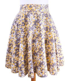 Look at this Mata Traders Yellow Study Abroad Skirt - Women & Plus on today! Striped Crop Top, Cotton Skirt, Vintage Skirt, Ethical Fashion, Fashion Company, Printed Skirts, Casual Looks, Skater Skirt, Printer