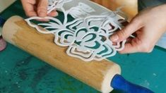 HOW IS THIS for Quick, Cheap, and Easy? Make a stencil from foam and apply to a roller for printing HOW IS THIS for Quick, Cheap, and Easy? Make a stencil from foam and apply to a roller for printing Diy And Crafts, Arts And Crafts, Paper Crafts, Craft Projects, Projects To Try, Craft Ideas, How To Make Stencils, Making Stencils, Form Design