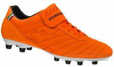 Lotto Stadio Primato K FG Mens Soccer Cleats NEW Orange K-Leather
