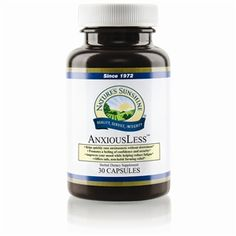 AnxiousLess™ (30 caps) This fast-acting, non-drowsy formula helps relieve the nervousness, worry and tension associated with daily living
