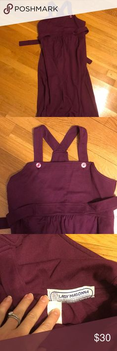 Vintage 1980s Maternity Jumper Vintage 1980s Maternity Jumper. Maroon with cute buttons and tie pull back. I'm very good condition Lady Madonna Dresses