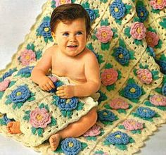 Free written Bed of Rose Baby Afghan