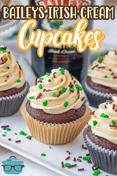 Cake Mix Recipes, Cupcake Recipes, Cupcake Cakes, Cupcakes, Quick Easy Desserts, Homemade Desserts, Fun Desserts, Homemade Baileys, Baileys Irish Cream