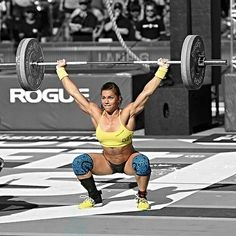 Crossfitter Julie Foucher Crossfit Games 2014. She was on one of my sister's gymnastics team and my other sister's diving team