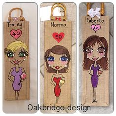Personalised and handpainted - makes the perfect gift with a bottle included £8 at www.facebook.com/oakbridgedesignni
