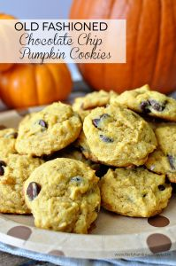 Old Fashioned Chocolate Chip Pumpkin Cookies