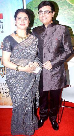 Sachin Pilgaonkar with wife Supriya #Bollywood #Fashion #Style #Marathi