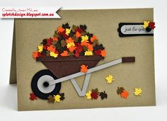 Splotch Design - Jacquii McLeay - Stampin Up - Father's Day Gardening Card Fall Cards, Holiday Cards, Tarjetas Diy, Punch Art Cards, Fathers Day Cards, Thanksgiving Cards, Halloween Cards, Halloween Ideas, Masculine Cards