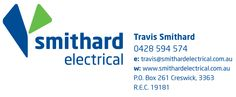 Ballarat, Creswick Victoria Electrician - Smithard Electrical - Travis Smithard.