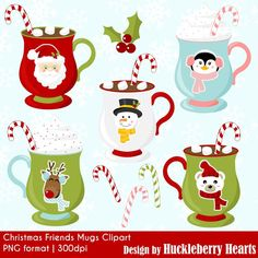 80% OFF SALE Christmas Clipart Christmas Clip by HuckleberryHearts