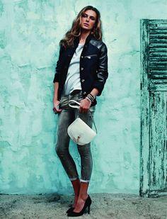 ❤ this Loewe jacket, Elle Spain Oct 2012