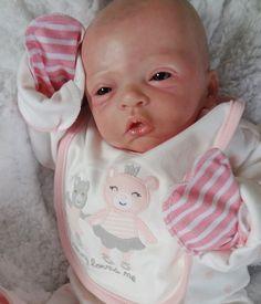 "Reborn baby girl ""Elodie"" by Evelina Wosnjuk www.wonderfinds.com/item/3_300907189037/c122723/Reborn-baby-girl"