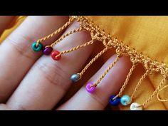 Betül'ün tığ oyaları - YouTube Crochet Borders, Crochet Lace, Crochet Stitches, Crochet Patterns, Crochet Videos, Beaded Earrings, Jewelery, Beads, Handmade