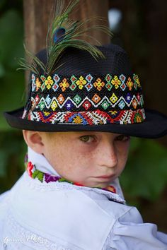 This boy is from Maramures Romania. He is wearing a traditional costume. Romania Travel, Folk Clothing, Christmas Challenge, The Beautiful Country, Top Destinations, American Country, Best Cities, Color Photography, Captain Hat