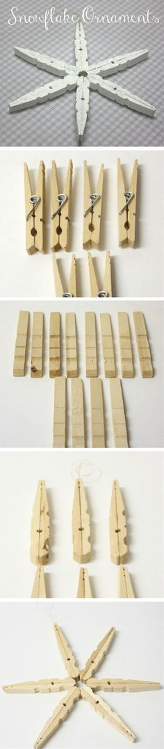 DIY Clothespin Crafts – Clothespins are amazing, a great deal of crafts could be performed with the finest of it, and also them they're very inexpensive, you can get 50 of them. If you&… #christmasornamentcrafts