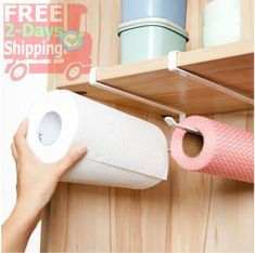 Moving-and-Free-Perforated-Kitchen-PaPer-Roll-Holder-Plastic-Wrap-Trivets-Kitche
