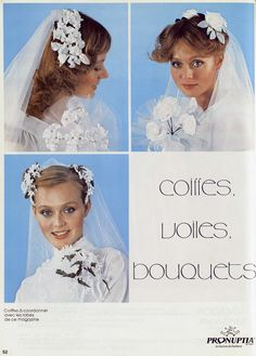 Pronuptia - 1981 1980s Wedding, Bridal Veils And Headpieces, New Romantics, Retro Vintage, Dress Vintage, Lace Making, Vintage Bridal, Bridal Style, Wedding Gowns