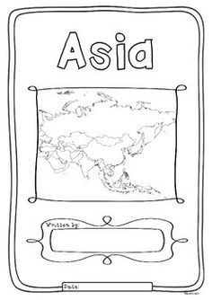 Asia 48 Countries Study - worksheets with maps and flags for each country Handwriting Practice Worksheets, Map Worksheets, Kindergarten Worksheets, Worksheets For Kids, Countries Of Asia, Continents And Countries, Asia Continent, Asia Map, Word Puzzles