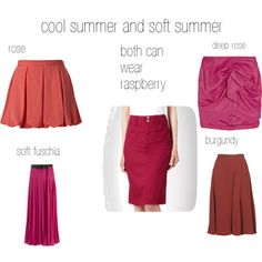cool and soft summer reds by expressingyourtruth on Polyvore featuring polyvore, fashion, style, Maine New England, Isabel Marant, Alice + Olivia, Monsoon, Ted Baker and color analysi9s