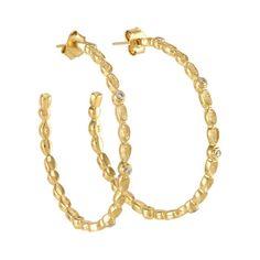 Melinda Maria Gold Plated Hoop Earings