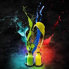 """#blackbackground #paint #splat #splash #red #indigo #blue #yellow #green #rainbow #jars #jar #kool #cool #amazing #awesome #epic"""
