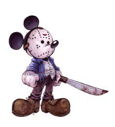 Mickey goes Jason!!