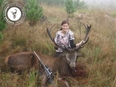 Stacey Rust with her 11 pointer, 180kgs of pure beast, shot with a 243.