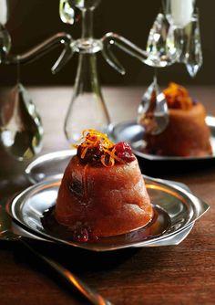 Cranberry and orange rum babas