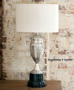 ALBANY CLUB HORSE SHOW TROPHY LAMP.  I could do this with my dog show trophies.