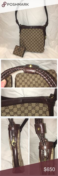 Authentic Gucci purse and matching wallet ❣️ Authentic Gucci purse and wallet purse and wallet ❣️ These items have both been USED with signs of wear- I am making a second listing with additional pictures of the purse and wallet  ❣️ I no longer have the papers or dust bag, as this was originally my mother's purse that she gave to me about 10 years ago ❣️ Still in very good condition ❣️If you have any questions or require more pictures please ask! 😊 I tried to get as many angles and pictures…