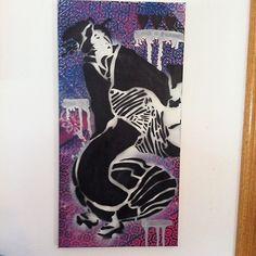 Now I got the #geisha #stencil right!