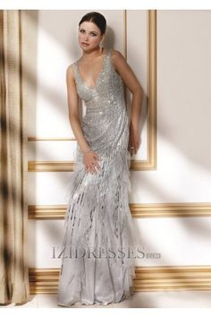 A-Line Princess V-neck Chiffon Mother Of The Bride Dress - IZIDRESSES.COM Like this in chocolate but it's $1,469.00