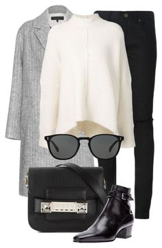 """Untitled #2233"" by annielizjung ❤ liked on Polyvore featuring rag & bone, Yves Saint Laurent, URBAN ZEN, Proenza Schouler and Oliver Peoples"