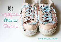 DIY Shabby Chic Fabric Shoelaces
