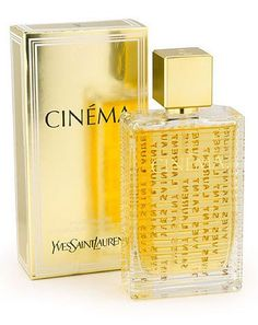 Cinéma by Yves Saint Laurent- My favorite perfume. Elegant, classy, subtle...reminiscent of old school glamour but not your grandma's scent.