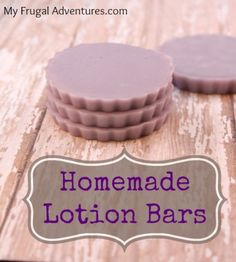 Homemade Lavendar Lotion Bars- use any coloring or fragrance you like.  A perfect gift idea or treat yourself to something luxurious at home!