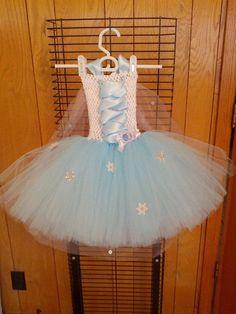 Frozen Tutu dress by Fancythatcreation on Etsy, $45.00