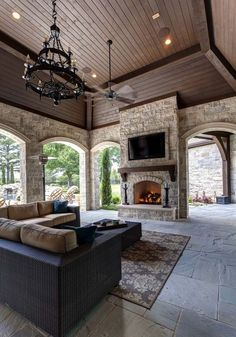 Love the setup of this outdoor patio. / Simmons Estate Homes / Luxury Custom Home Builder / DFW Area Custom Homes / Patio / Outdoor Living - Luxury Interior Design Case, House Goals, Outdoor Rooms, Outdoor Living Spaces, Outdoor Kitchens, Outdoor Areas, Indoor Outdoor Kitchen, Ikea Outdoor, Outdoor Kitchen Design