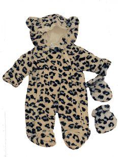 Leopard Print Baby Snowsuit 0-3months koko 22£