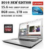 2016 Newest Lenovo Flagship High Performance Laptop 15.6 FHD 1080P Display Intel Core i7-5500U AMD Radeon R7 M360 Dedicated Graphics 8GB RAM 1TB HDD DVD Backlit Keyboard Bluetooth Windows 10