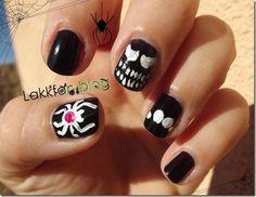 DIY halloween nails: DIY Halloween nail art : Halloween Challenge  Spider
