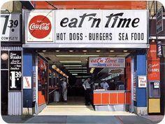eat 'n time ~artist Richard Estes