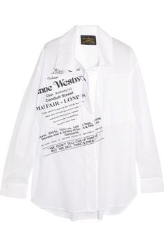Vivienne Westwood Anglomania - Nomad Printed Cotton-voile Shirt - White - large