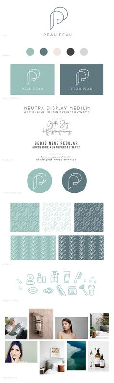 Logo Design and Brand Toolkit for Peau Peau - a skincare-focused e-commerce business by Delilah Creative