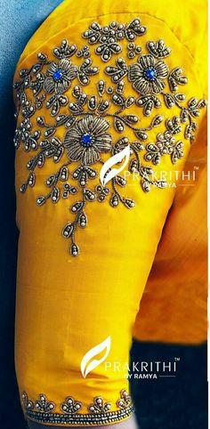 Blo use designs Pattu Saree Blouse Designs, Blouse Designs Silk, Designer Blouse Patterns, Bridal Blouse Designs, Beaded Embroidery, Embroidery Designs, Simple Blouse Designs, Goldwork, Sabyasachi