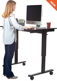 Rise Up   Electric Adjustable Height Standing Desk | Standing Desks And  Keyboard Trays | Pinterest | Desks, Free And Office Desks