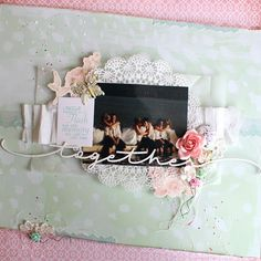 Plumo scrap aux puces cuts2luv creative embelishment mimosa Scrapbook Pages, Scrapbooking, Wedding Scrapbook, General Crafts, Wedding Album, Mixed Media, Memories, Cards, Inspiration