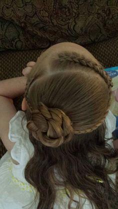 dutch braids and flower bun ♡