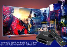 Android 5.1 TV Box - Wi-Fi, Bluetooth 4.0, H.265 Decoding, HDMI 2.0, KODI Support https://www.chinavasion.com/china/wholesale/Android_Media_Players/Android_TV_Box/Android-5.1-TV-Box-With-Kodi/