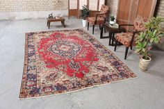 Area rugs are a great way to inject playfulness and fun into the room. #neutralstyle #neutralrug #sodomino #bohemian #etsy #color #myhomevibe #vintagerugs #bohemianjam#turkishrug #persianrugs #antiquerugs #turkishkilim #turkishcarpet #persiancarpet #persiankilim #overdyedrugs #arearugs #carpets #geometricrugs #tribalrugs #oushakrug #oushak #livingroomdecor #arearug #homedecor #decoration #design #interiordesign #arearug #livingroomremode #bohoatyle #floralrug #geometricrug Geometric Rug, Tribal Rug, Floral Rug, Red Rugs, Large Rugs, Persian Carpet, Floor Rugs, Vintage Rugs, Carpets